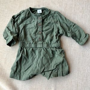 Army forest green romper jumpsuit